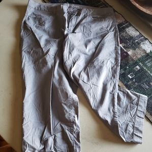 Gray old navy capris
